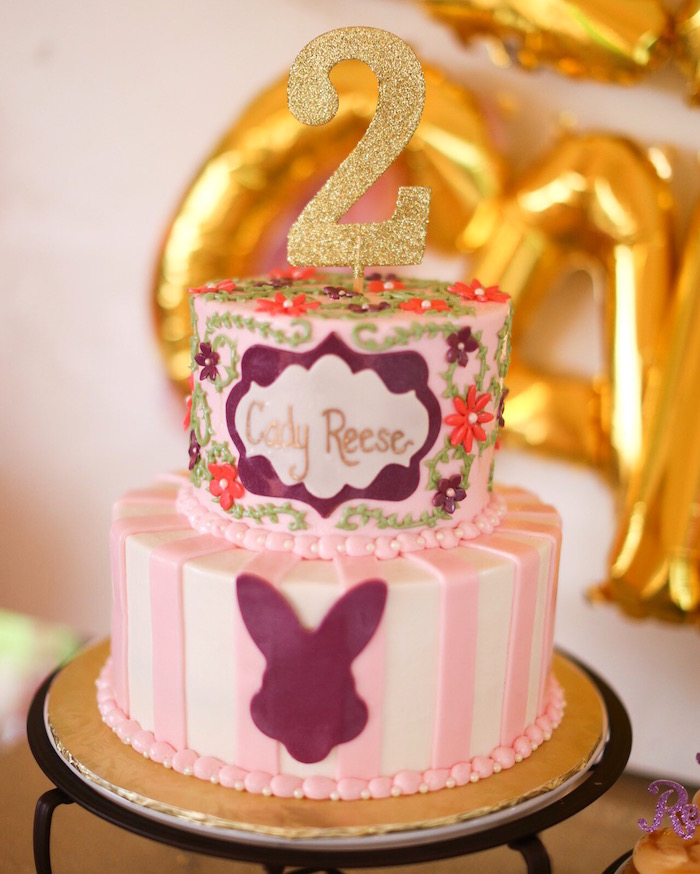 Cake from a Little Bunny Birthday Party on Kara's Party Ideas | KarasPartyIdeas.com (19)