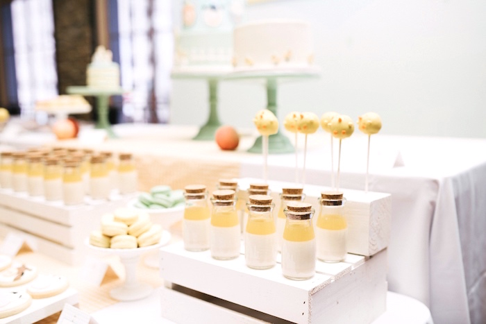 Glass milk bottles with cork stoppers from a Little Farm Birthday Party on Kara's Party Ideas | KarasPartyIdeas.com (31)
