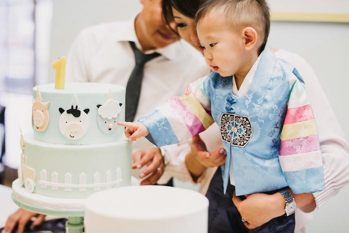 Cake from a Little Farm Birthday Party on Kara's Party Ideas   KarasPartyIdeas.com (9)
