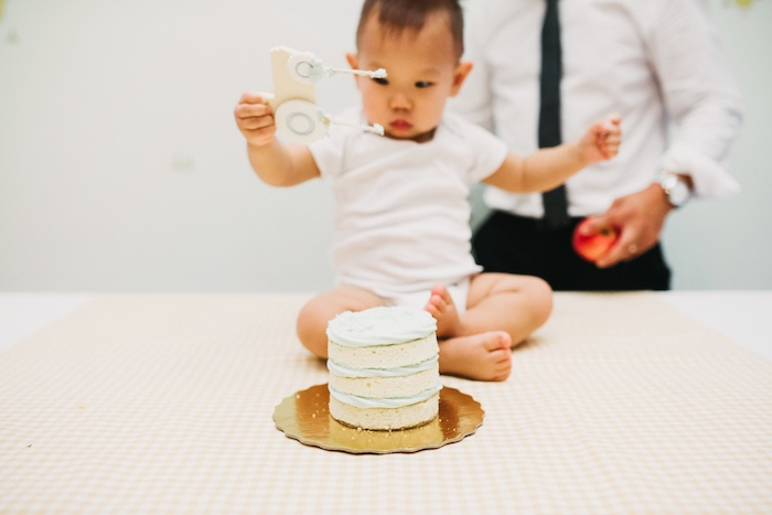 Smash cake from a Little Farm Birthday Party on Kara's Party Ideas   KarasPartyIdeas.com (6)