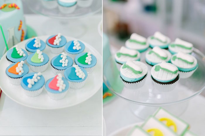 Cupcakes from a Mad Science Birthday Party on Kara's Party Ideas | KarasPartyIdeas.com (25)