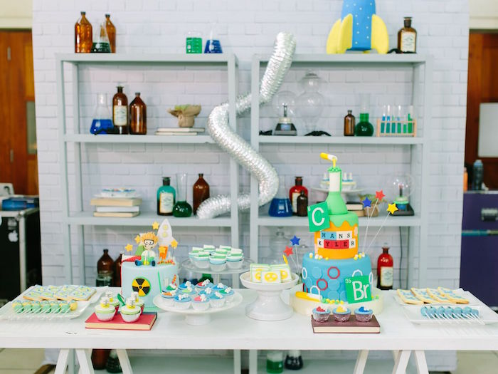 Dessert table from a Mad Science Birthday Party on Kara's Party Ideas | KarasPartyIdeas.com (19)