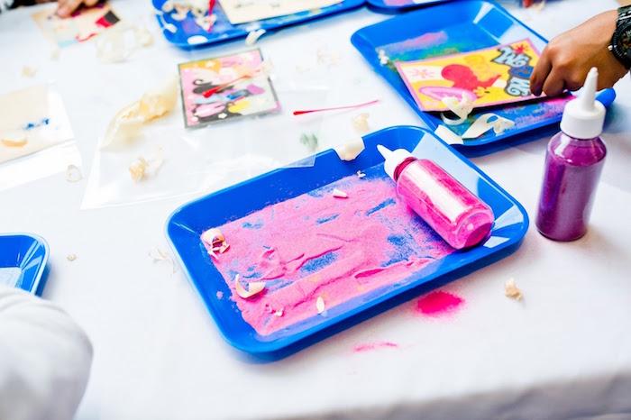 Sand art kits + party activity from a Marshmallows & Sprinkles Birthday Party on Kara's Party Ideas | KarasPartyIdeas.com (10)