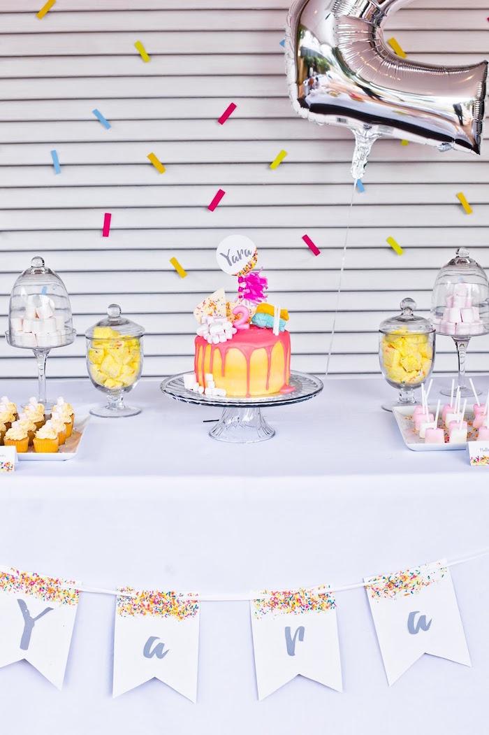 Marshmallows & Sprinkles Birthday Party on Kara's Party Ideas | KarasPartyIdeas.com (17)