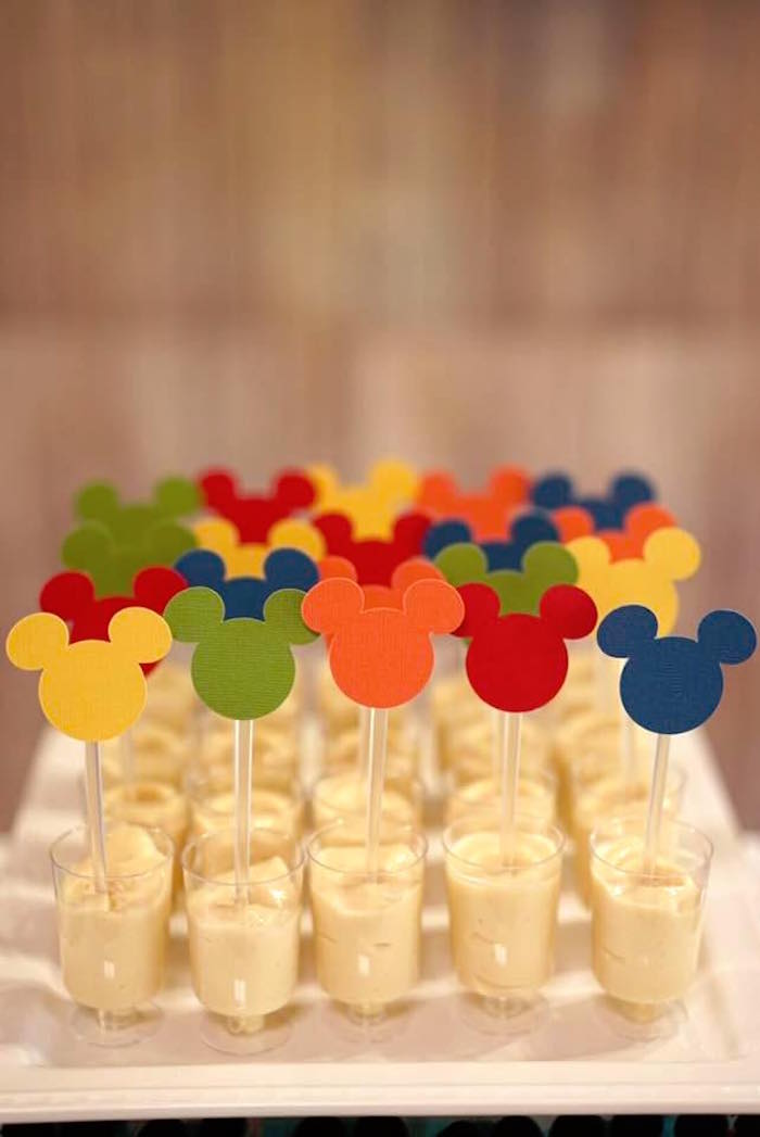 Mickey Mouse dessert cups from a Mickey Mouse 1st Birthday Party on Kara's Party Ideas | KarasPartyIdeas.com (18)