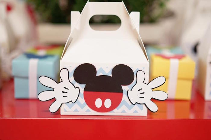 Mickey Mouse gable box from a Mickey Mouse 1st Birthday Party on Kara's Party Ideas | KarasPartyIdeas.com (5)