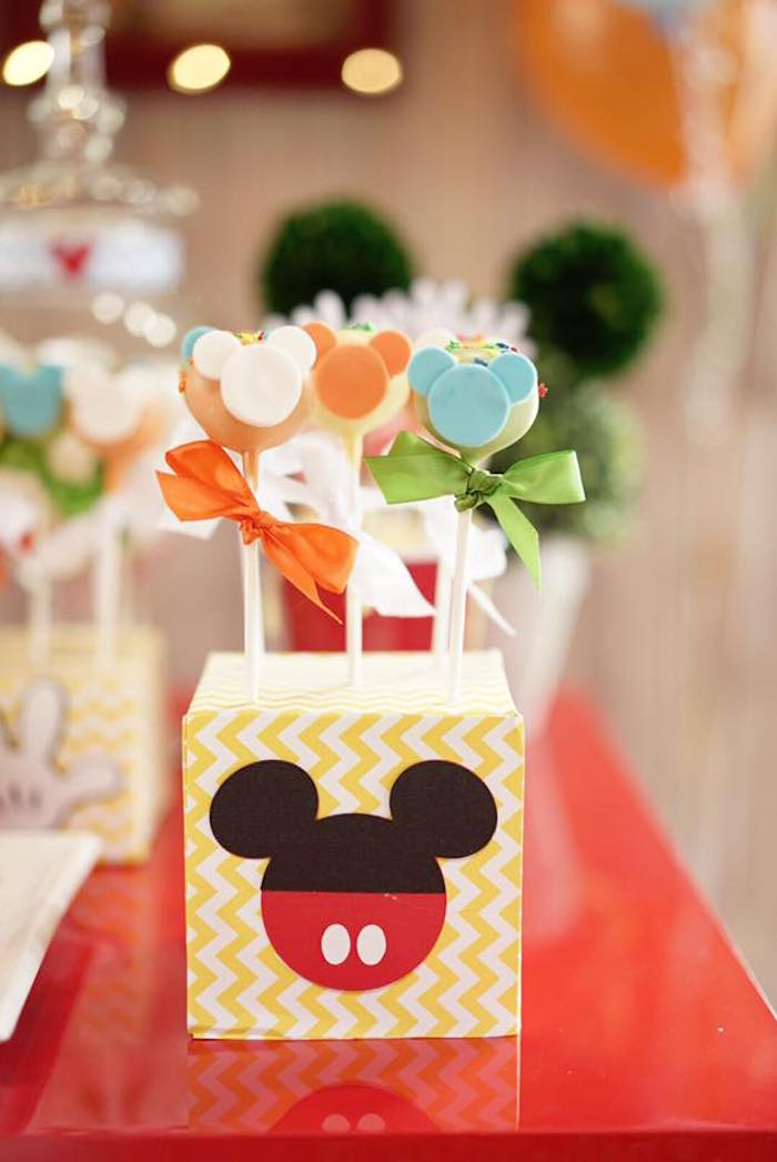 Mickey Mouse pops from a Mickey Mouse 1st Birthday Party on Kara's Party Ideas | KarasPartyIdeas.com (25)