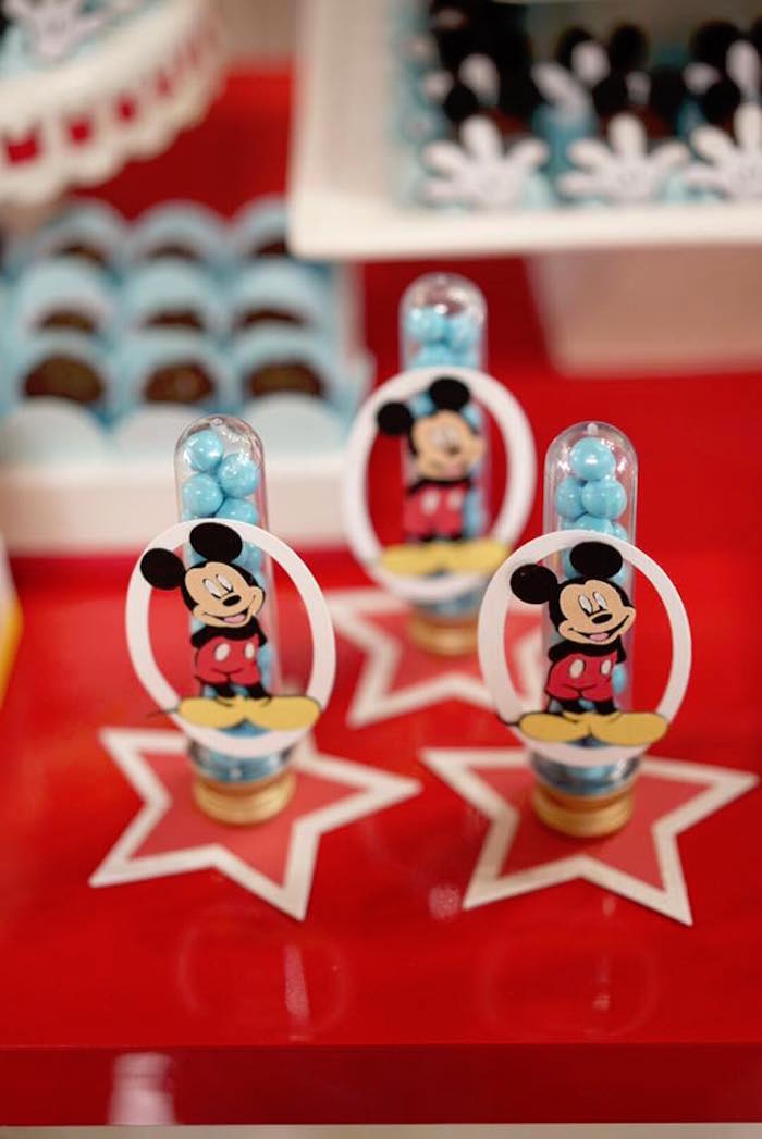 Mickey Mouse candy favor tubes from a Mickey Mouse 1st Birthday Party on Kara's Party Ideas | KarasPartyIdeas.com (22)
