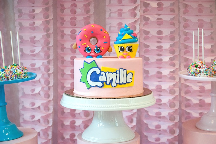 Shopkins cake from a Modern Shopkins Birthday Party on Kara's Party Ideas | KarasPartyIdeas.com (29)