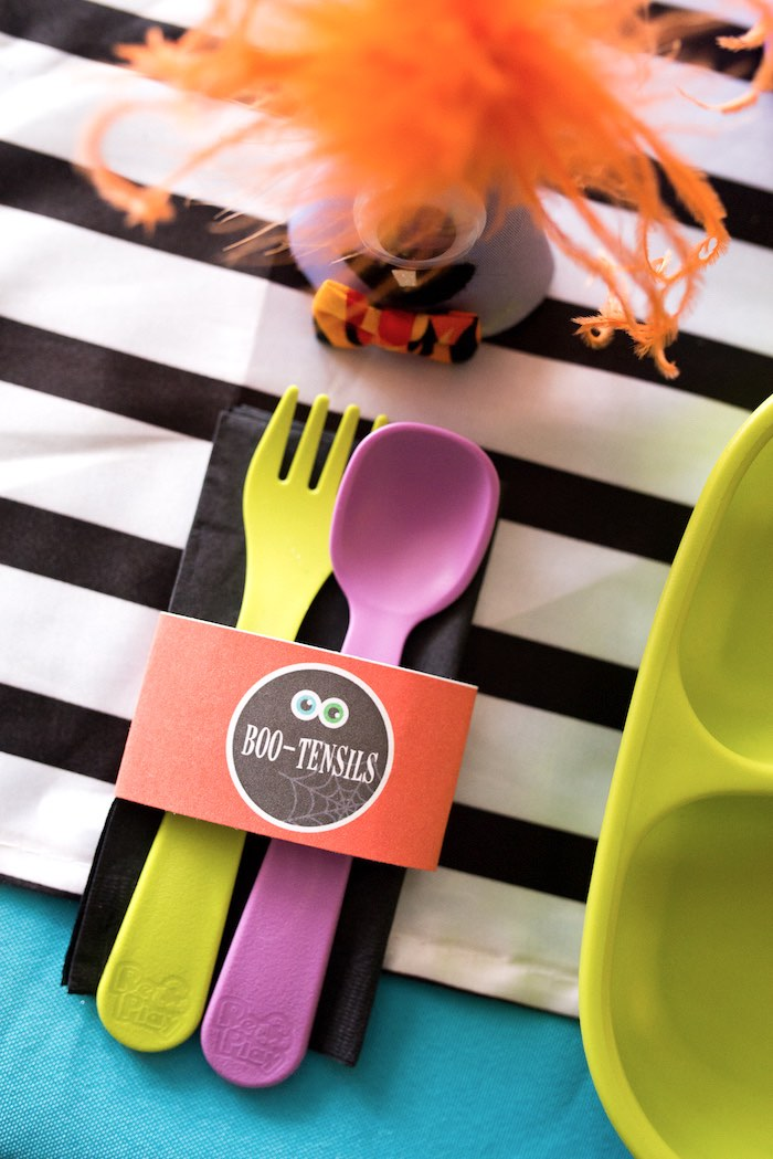Boo-Tensils + utensil pack from a Monster Mash Halloween Party on Kara's Party Ideas   KarasPartyIdeas.com (57)