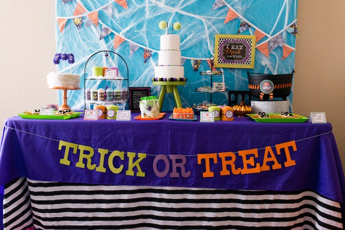 Sweet, food and snack table from a Monster Mash Halloween Party on Kara's Party Ideas   KarasPartyIdeas.com (51)