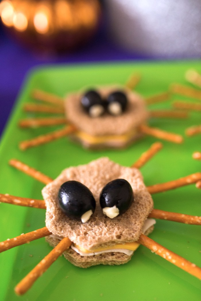 Spider sandwiches from a Monster Mash Halloween Party on Kara's Party Ideas   KarasPartyIdeas.com (45)