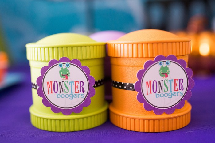 Snack cups from a Monster Mash Halloween Party on Kara's Party Ideas   KarasPartyIdeas.com (41)