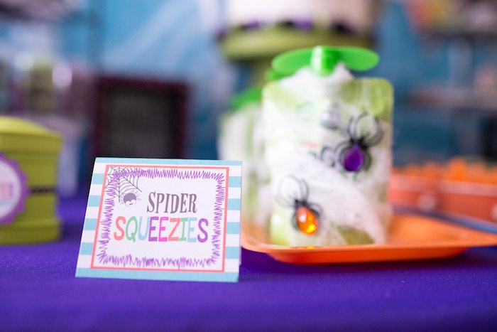 Spider Squeezies from a Monster Mash Halloween Party on Kara's Party Ideas   KarasPartyIdeas.com (38)