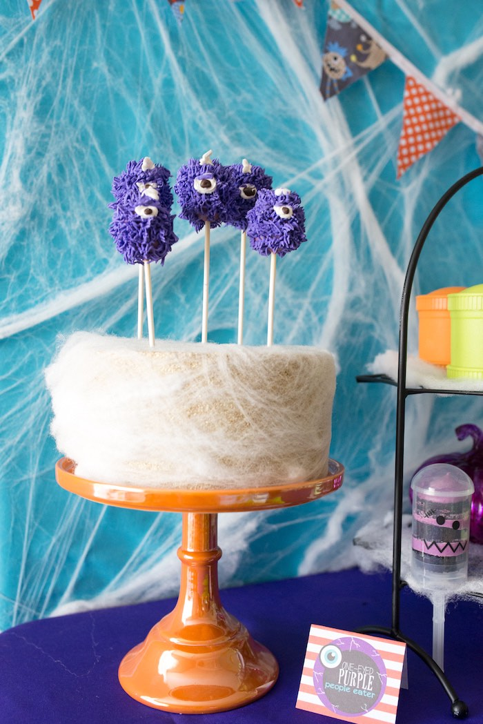 Monster cake pops from a Monster Mash Halloween Party on Kara's Party Ideas   KarasPartyIdeas.com (32)