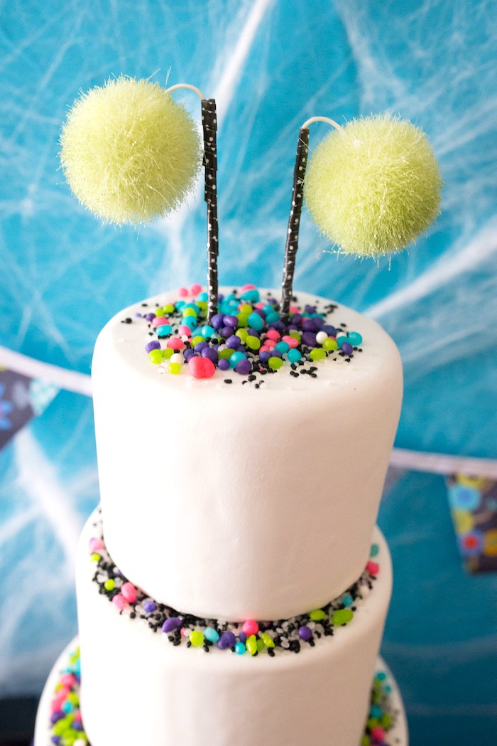 Cake top from a Monster Mash Halloween Party on Kara's Party Ideas   KarasPartyIdeas.com (30)