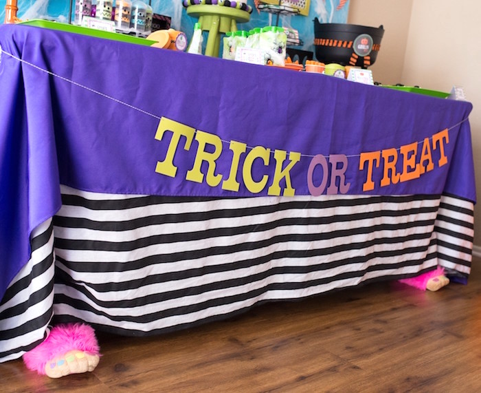 Trick or Treat table front from a Monster Mash Halloween Party on Kara's Party Ideas   KarasPartyIdeas.com (27)