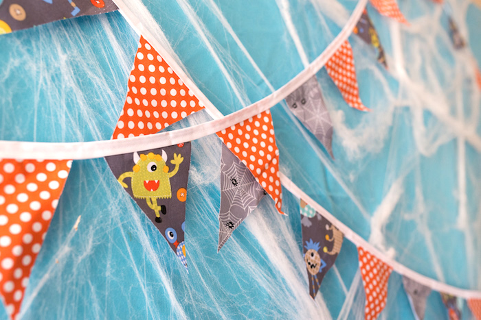 Monster banner from a Monster Mash Halloween Party on Kara's Party Ideas   KarasPartyIdeas.com (26)