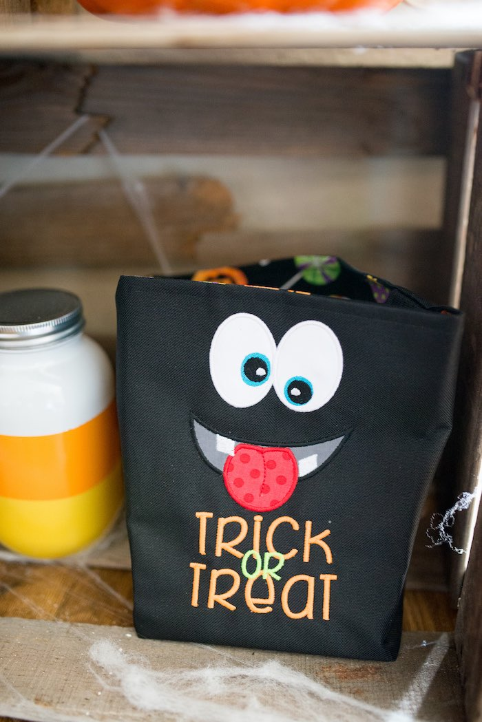 Monster Trick-or-Treat Bag from a Monster Mash Halloween Party on Kara's Party Ideas   KarasPartyIdeas.com (25)