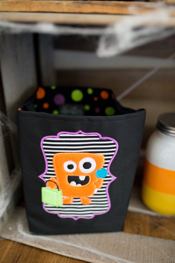 Monster Trick-or-Treat Favor Bag from a Monster Mash Halloween Party on Kara's Party Ideas   KarasPartyIdeas.com (24)