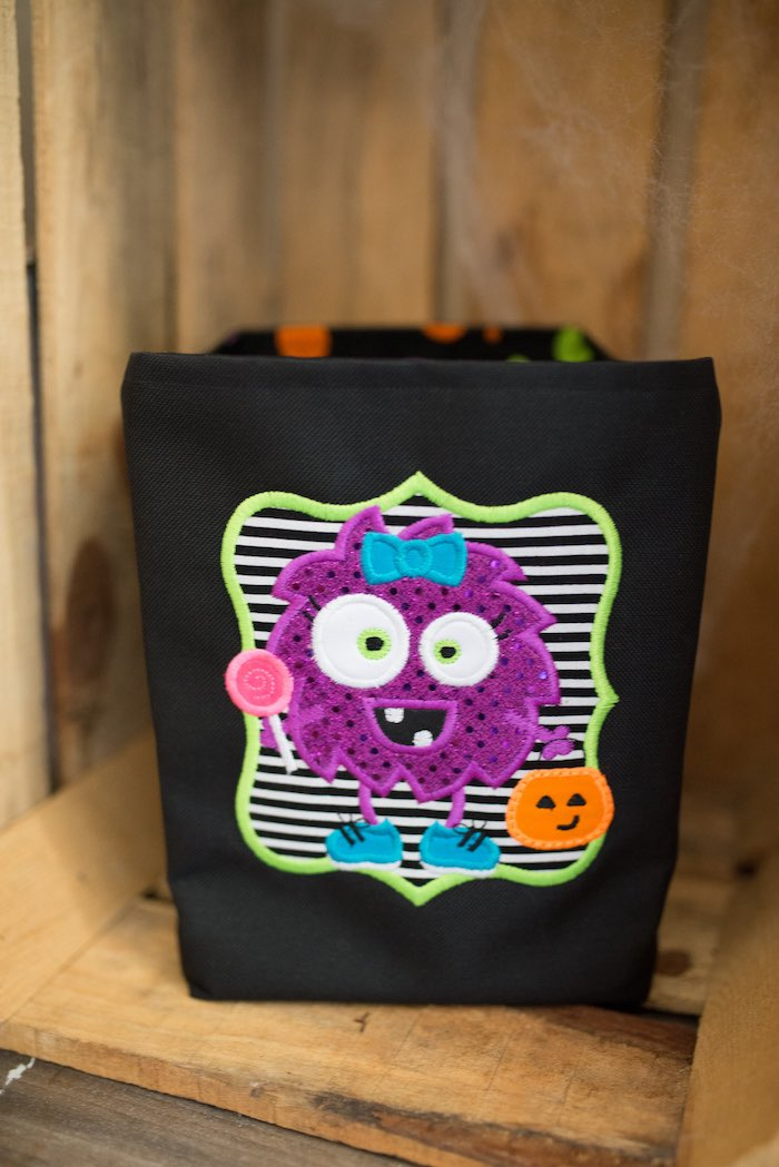 Monster Trick-or-Treat Favor Bag from a Monster Mash Halloween Party on Kara's Party Ideas   KarasPartyIdeas.com (23)