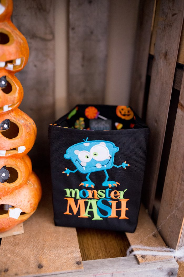 Monster Trick-or-Treat Favor Bag from a Monster Mash Halloween Party on Kara's Party Ideas   KarasPartyIdeas.com (22)