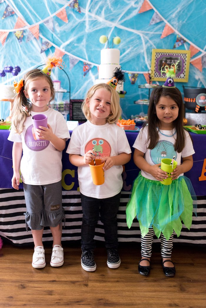 Kids from a Monster Mash Halloween Party on Kara's Party Ideas   KarasPartyIdeas.com (18)