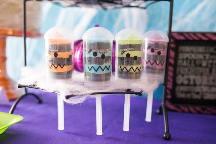 Monster push pops from a Monster Mash Halloween Party on Kara's Party Ideas   KarasPartyIdeas.com (12)