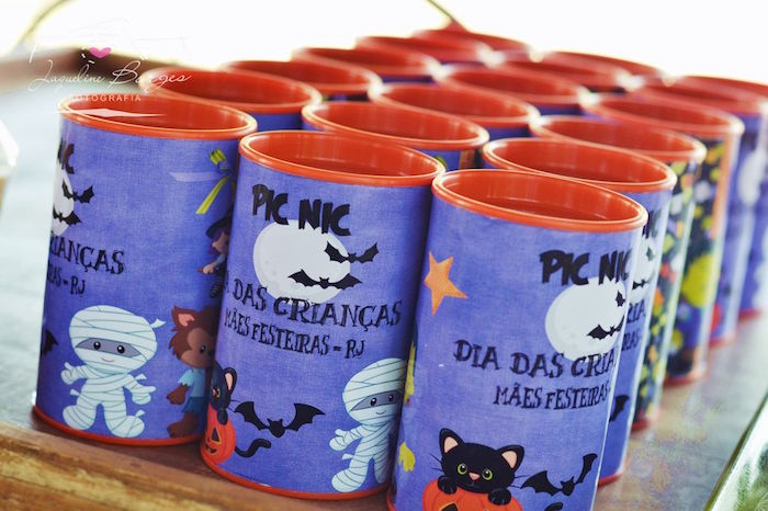 Halloween favors from an Orange + Purple & Black Halloween Party on Kara's Party Ideas | KarasPartyIdeas.com (67)
