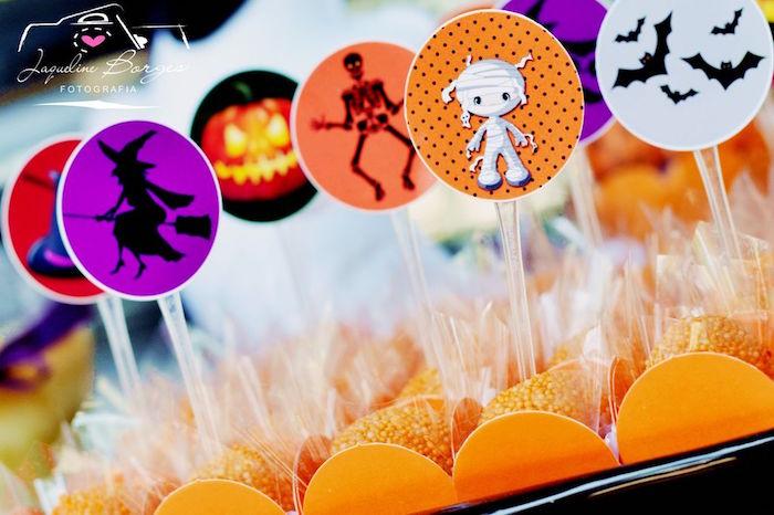 Brigadeiros from an Orange + Purple & Black Halloween Party on Kara's Party Ideas | KarasPartyIdeas.com (78)