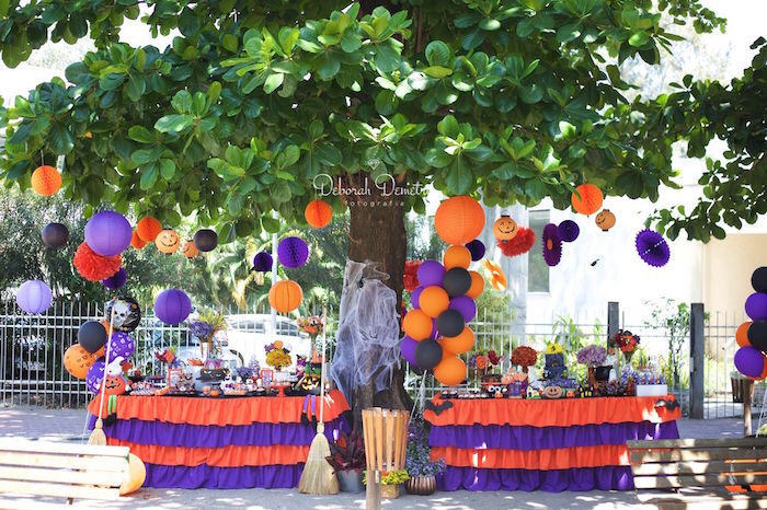 Orange + Purple & Black Halloween Party on Kara's Party Ideas | KarasPartyIdeas.com (51)