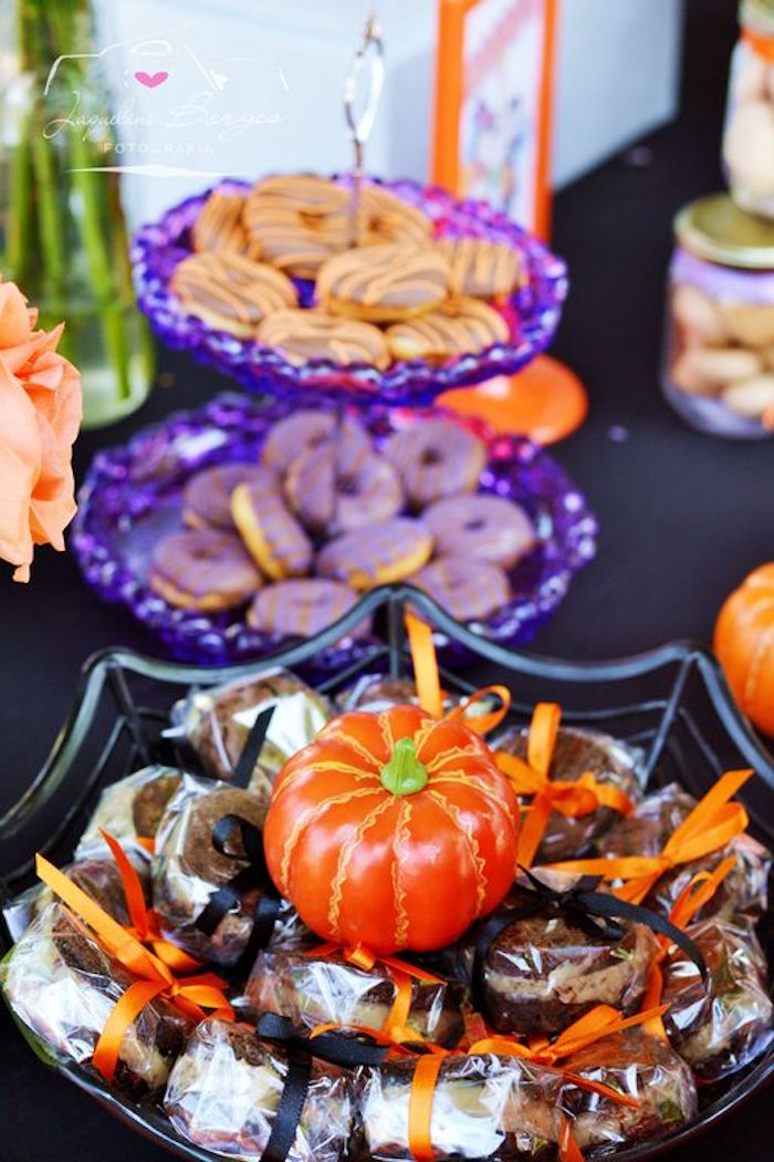 Snacks + sweets from an Orange + Purple & Black Halloween Party on Kara's Party Ideas | KarasPartyIdeas.com (77)