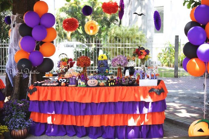 Orange Purple Black Party On Kara S Ideas Karaspartyideas