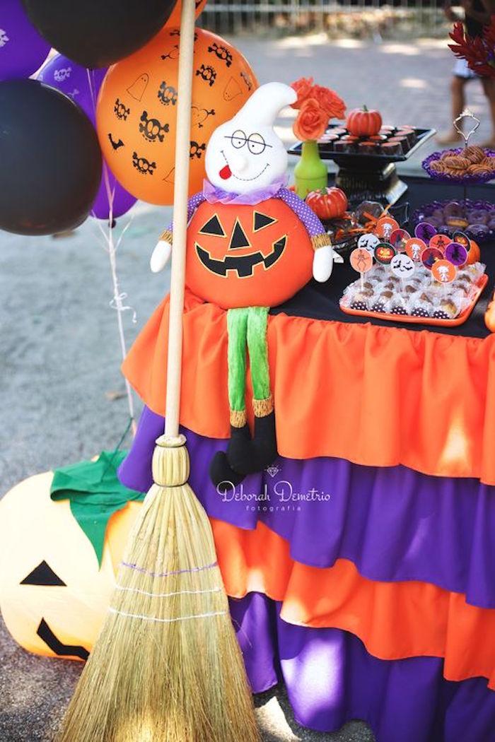 Decor from an Orange + Purple & Black Halloween Party on Kara's Party Ideas | KarasPartyIdeas.com (42)