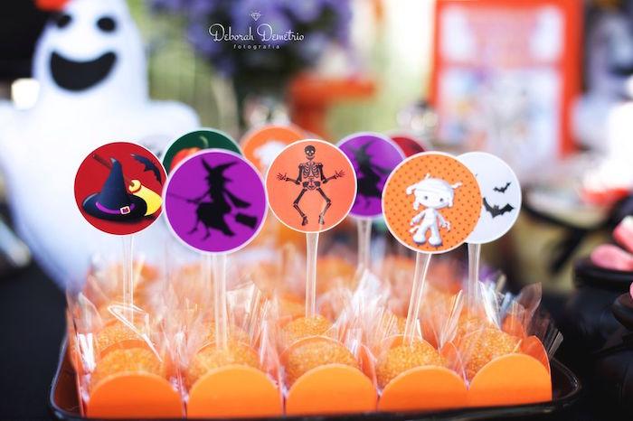 Brigadeiros from an Orange + Purple & Black Halloween Party on Kara's Party Ideas | KarasPartyIdeas.com (40)