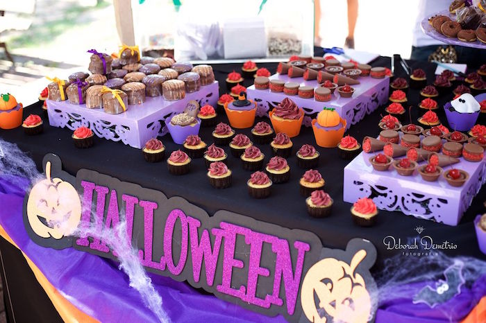 Karas Party Ideas Orange Purple Black Halloween Party Karas