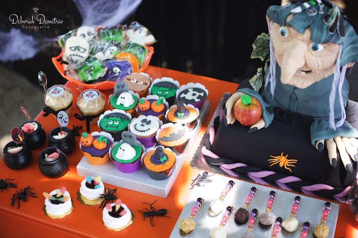 Sweets & treats from an Orange + Purple & Black Halloween Party on Kara's Party Ideas | KarasPartyIdeas.com (27)