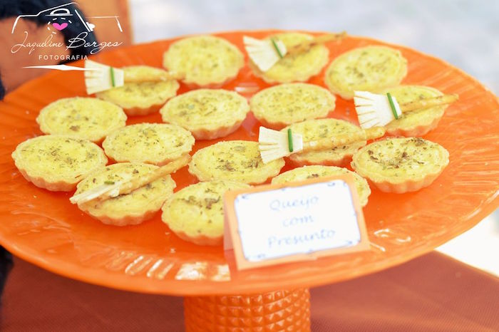 Broomstick quiches from an Orange + Purple & Black Halloween Party on Kara's Party Ideas | KarasPartyIdeas.com (74)
