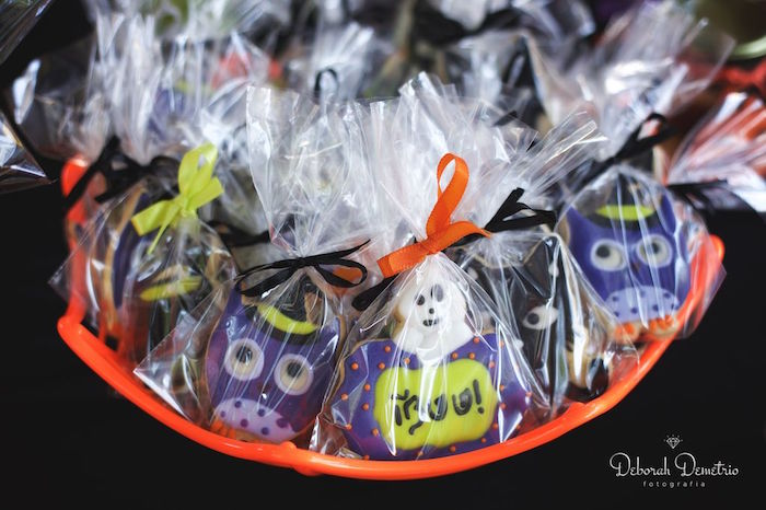Cookies from an Orange + Purple & Black Halloween Party on Kara's Party Ideas | KarasPartyIdeas.com (18)
