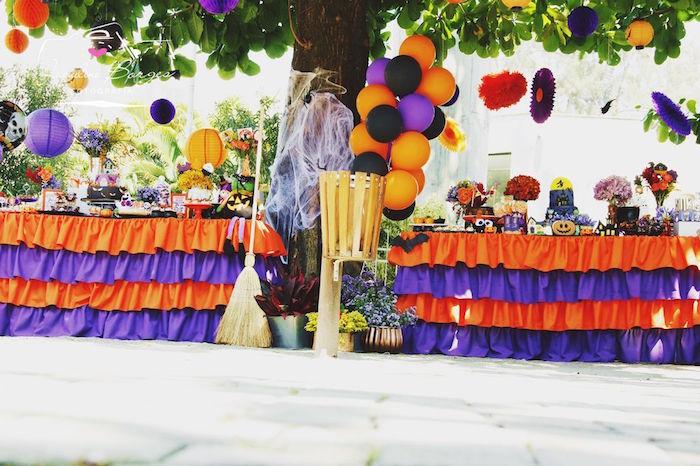Orange + Purple & Black Halloween Party on Kara's Party Ideas | KarasPartyIdeas.com (71)