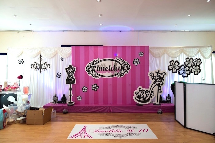 Birthday Party Stage Design Image Inspiration of Cake and