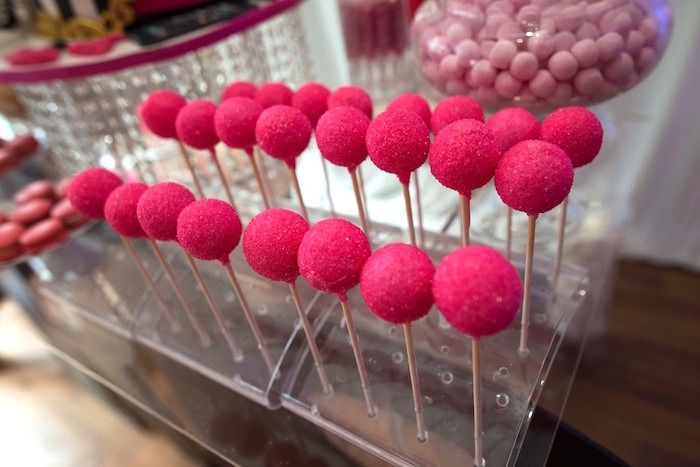 Hot pink cake pops from a Paris 10th Birthday Party on Kara's Party Ideas | KarasPartyIdeas.com (19)