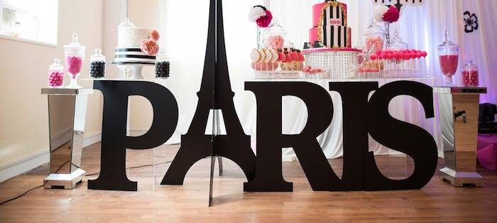 Paris 10th Birthday Party on Kara's Party Ideas | KarasPartyIdeas.com (1)
