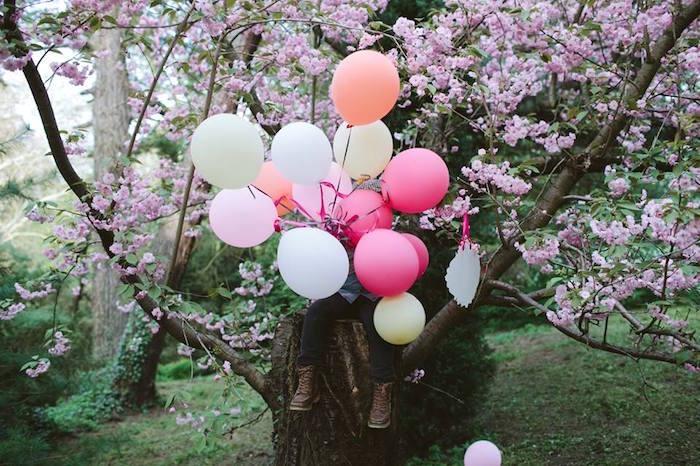 Balloon bunch from a Parisian Love Outdoor Picnic Birthday Party on Kara's Party Ideas   KarasPartyIdeas.com (23)