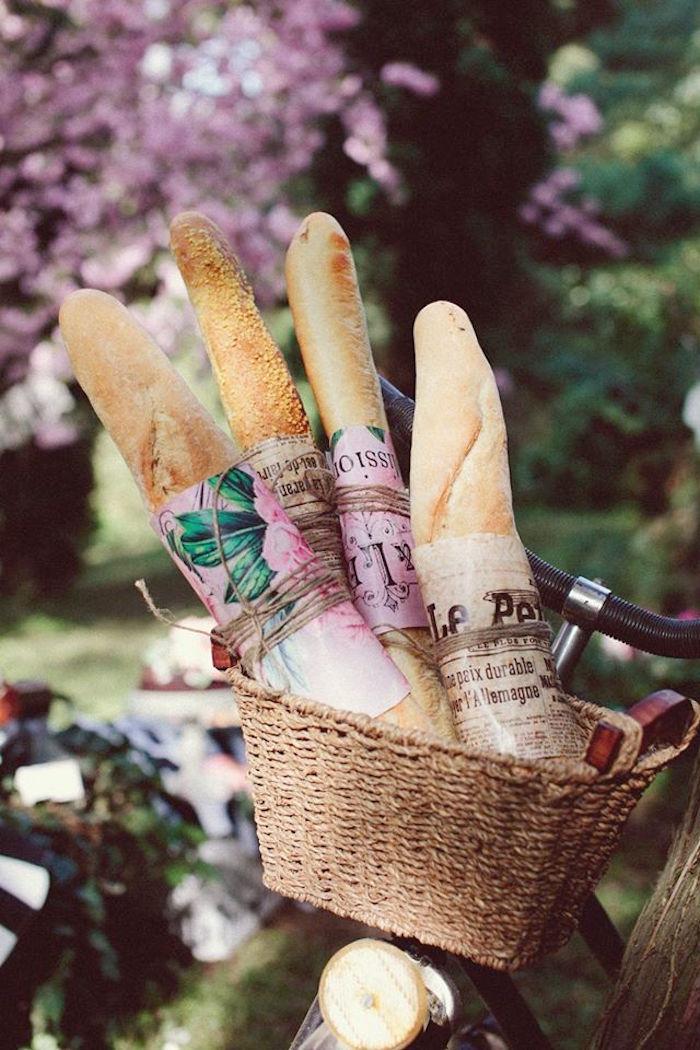 Bread loafs from a Parisian Love Outdoor Picnic Birthday Party on Kara's Party Ideas   KarasPartyIdeas.com (3)