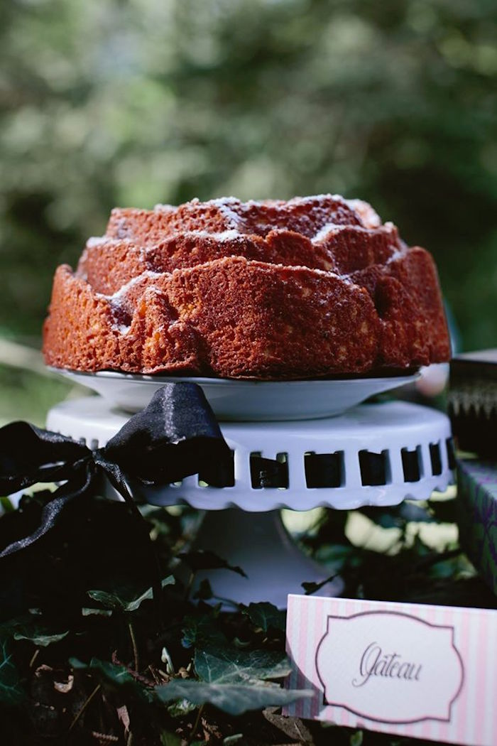 Cake from a Parisian Love Outdoor Picnic Birthday Party on Kara's Party Ideas   KarasPartyIdeas.com (2)
