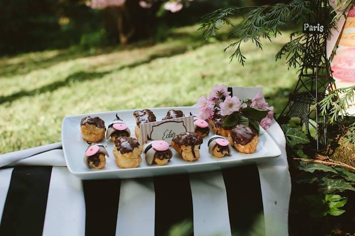 Pastries from a Parisian Love Outdoor Picnic Birthday Party on Kara's Party Ideas   KarasPartyIdeas.com (37)