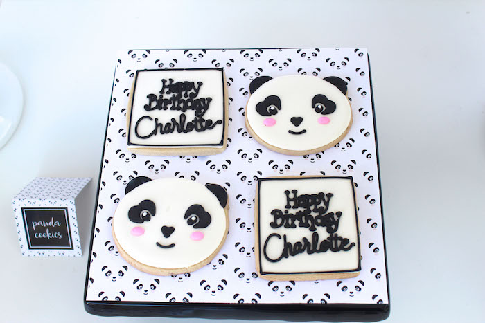 Cookies from a Party Like a Panda Birthday Party on Kara's Party Ideas | KarasPartyIdeas.com (45)
