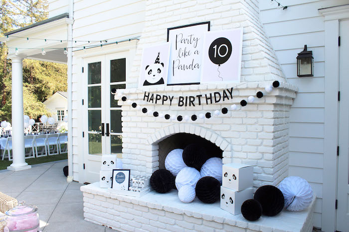 Panda Bear party decor from a Party Like a Panda Birthday Party on Kara's Party Ideas | KarasPartyIdeas.com (44)