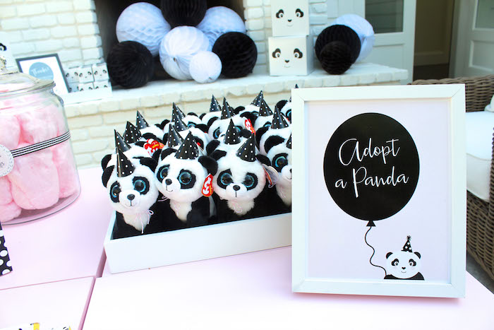 Adoption station from a Party Like a Panda Birthday Party on Kara's Party Ideas | KarasPartyIdeas.com (43)